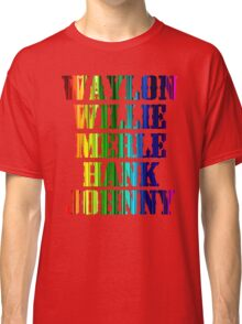 cute Waylon Jennings Willie Nelson Merle Haggard Hank Williams Johnny Cash  Classic T-Shirt