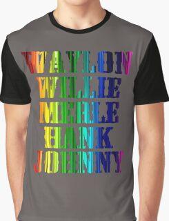 cute Waylon Jennings Willie Nelson Merle Haggard Hank Williams Johnny Cash  Graphic T-Shirt