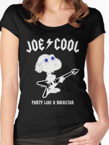 Snoopy Joe Cool Rock Women's Fitted Scoop T-Shirt