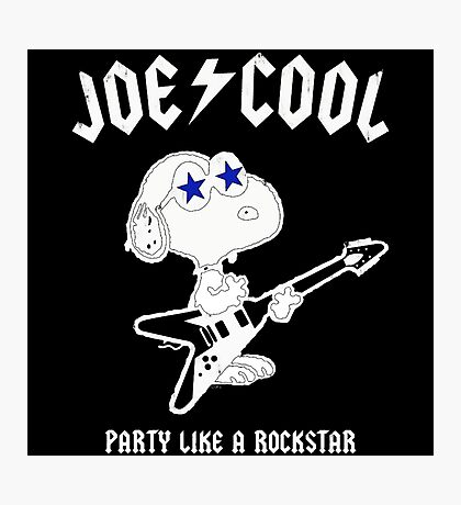 Snoopy Joe Cool Rock Photographic Print