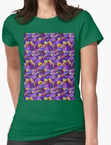Pansies Galore  Womens Fitted T-Shirt