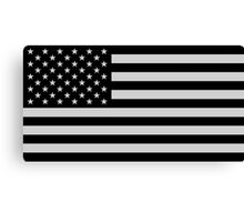 USA Dark Flag Canvas Print