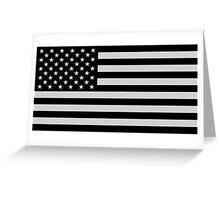 USA Dark Flag Greeting Card