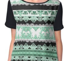 Bright abstract seamless lace pattern romantic print background Chiffon Top
