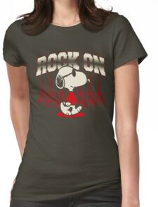 Snoopy Rock Womens Fitted T-Shirt