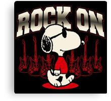 Snoopy Rock Canvas Print