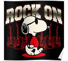 Snoopy Rock Poster