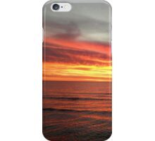 Firey beach sunset iPhone Case/Skin