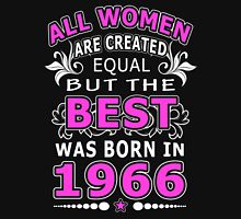 The Best Woman Was Born In 1966 Womens Fitted T-Shirt