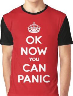 Brexit Panic Keep Calm Parody Graphic T-Shirt