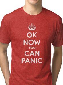 Brexit Panic Keep Calm Parody Tri-blend T-Shirt
