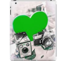 I ♥ Photography Green iPad Case/Skin
