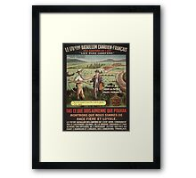 Vintage poster - WWI Canadian Recruiting Framed Print