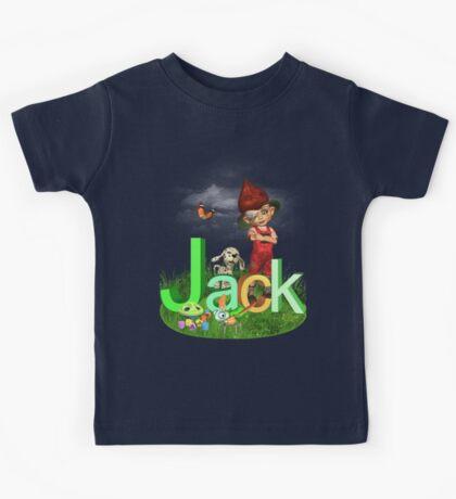 Jack Green - Kids Art with Custom Name Kids Tee