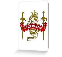 The Vicereine Coat-of-Arms Greeting Card