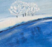 Landscape in winter Sticker