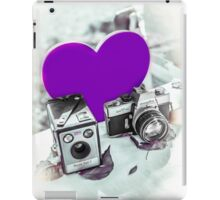 I ♥ Photography Purple iPad Case/Skin