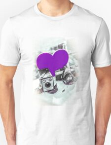 I ♥ Photography Purple Unisex T-Shirt