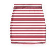 Red Stripes Pattern Mini Skirt