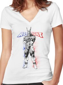 All Might - My Hero Academia Women's Fitted V-Neck T-Shirt