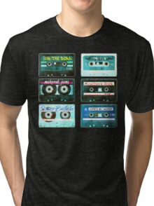 OLD CASSETTE TAPES Tri-blend T-Shirt
