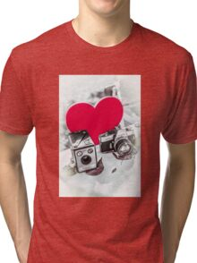 I ♥ Photography Red Tri-blend T-Shirt