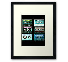 OLD CASSETTE TAPES Framed Print