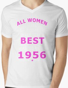 The Best Woman Was Born In 1956 Mens V-Neck T-Shirt