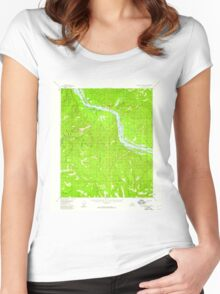 USGS TOPO Map Alaska AK Charley River A-2 354853 1956 63360 Women's Fitted Scoop T-Shirt