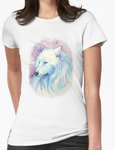 Watercolor Wolf Lassie Womens Fitted T-Shirt