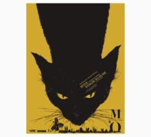 Vintage poster - Black Cat One Piece - Long Sleeve