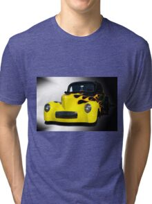 1941 Willys Coupe in Flames Tri-blend T-Shirt