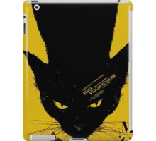 Vintage poster - Black Cat iPad Case/Skin