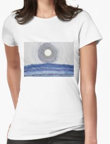 Rim of the Moon original painting Womens Fitted T-Shirt