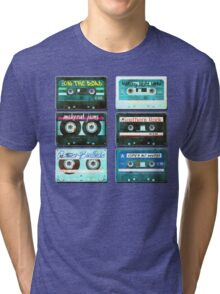 OLD CASSETTE MIX TAPES Tri-blend T-Shirt