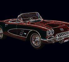 1950's Chevrolet Corvette Convertible  by John Gaffen