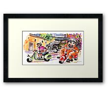 Sicilian Traffic 01 Framed Print