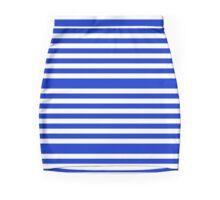 Purple Stripes Pattern Mini Skirt