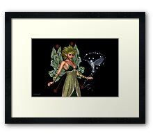 The Fae and a little bird Framed Print