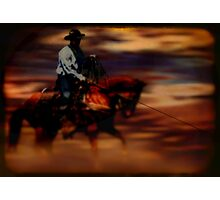 Roping Horse Photographic Print