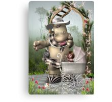 DD Hippo -The Best Nanny Poster Canvas Print