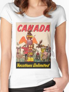 Vintage poster - Canada Women's Fitted Scoop T-Shirt