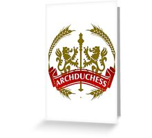 The Archduchess Coat-of-Arms Greeting Card
