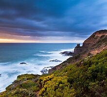 Cape Schanck Sunset on the Mornington Peninsula Victoria, Australia by Ben  Cadwallader