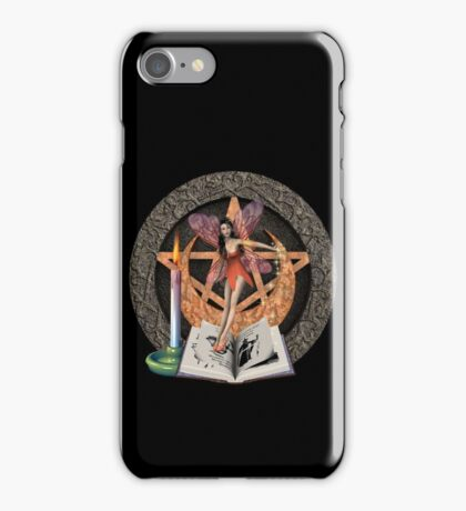 Fairy witch casting a spell iPhone Case/Skin