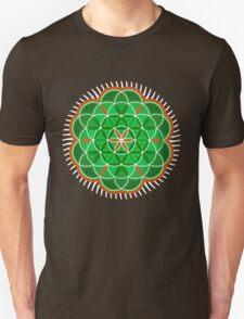 Flower of Life - green version Unisex T-Shirt