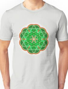 Flower of Life - green version Unisex T-Shirt