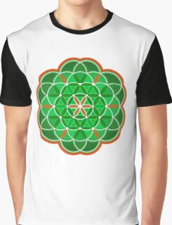 Flower of Life - green version Graphic T-Shirt