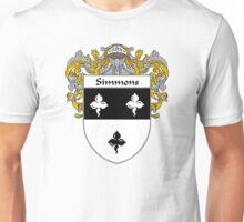 Simmons Coat of Arms / Simmons Family Crest Unisex T-Shirt