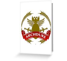 The Archduke Coat-of-Arms Greeting Card